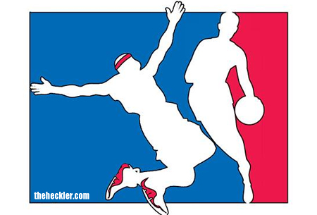 450x305 Nba Replaces Logo With Silhouette Of Lebron Flopping The Heckler
