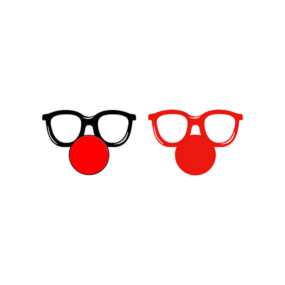570x570 Clown Svg Clown Nose Svg Clown Glasses Svg Circus Svg Silhouette