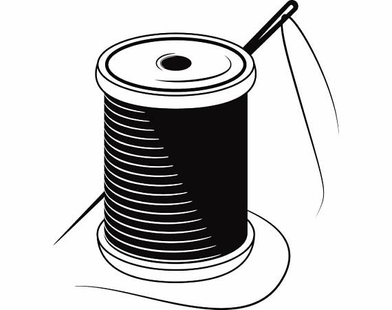 Needle And Thread Silhouette at GetDrawings.com   Free for personal ...
