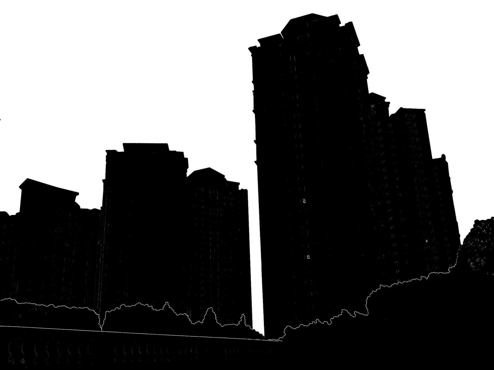 1600x1200 Building Silhouette Clipart