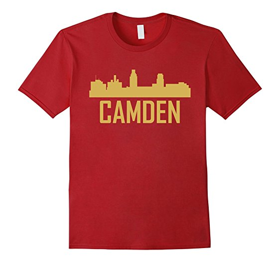 562x526 Camden New Jersey Skyline Silhouette T Shirt Clothing