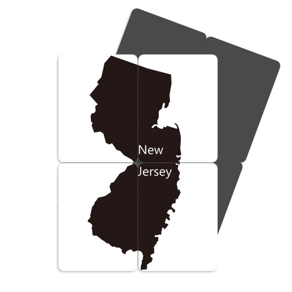 600x600 New Jersey Usa Map Silhouette Refrigerator Magnet Puzzle Home