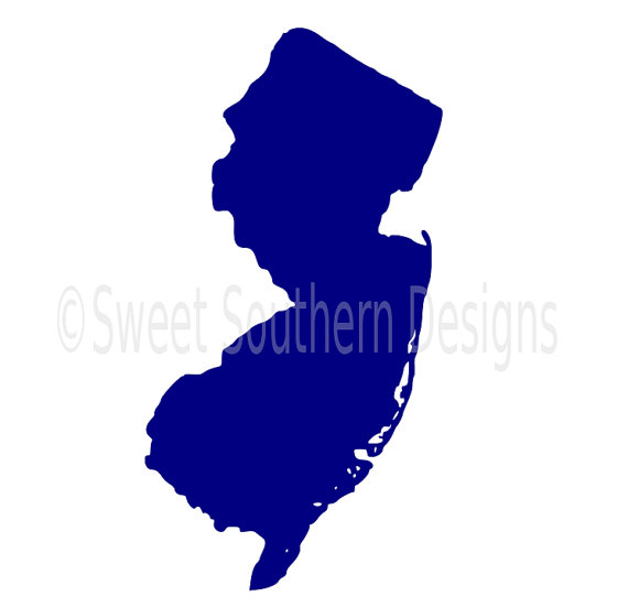 570x551 New Jersey Outline Svg Instant Download Design For Cricut