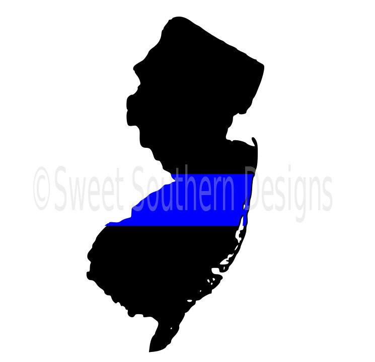745x720 New Jersey Thin Blue Line Police Svg Instant Download Design
