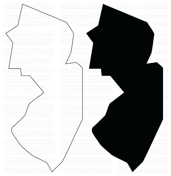 570x585 Maps New Jersey Map Outline State Vector Graphic Clip Art
