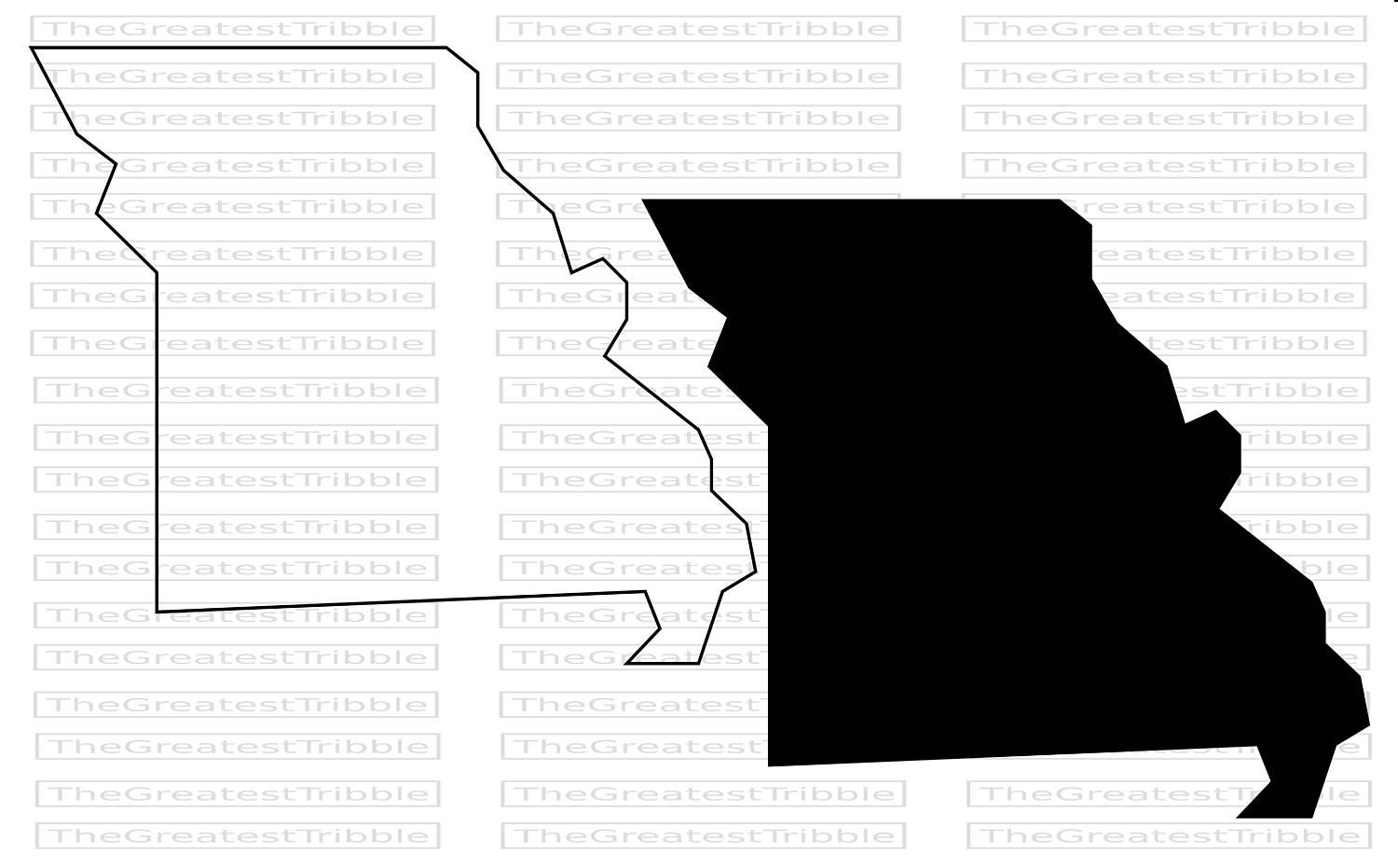 1500x931 Missouri State Map Svg Png Jpg Vector Graphic Clip Art Missouri