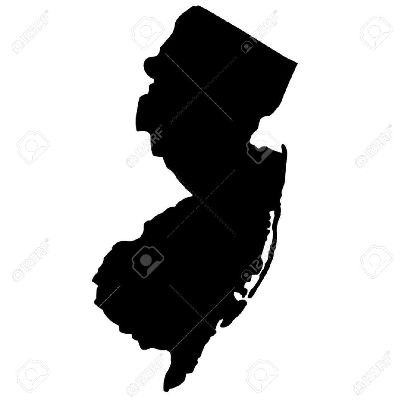 1300x1300 New Jersey State Of New Clipart Panda