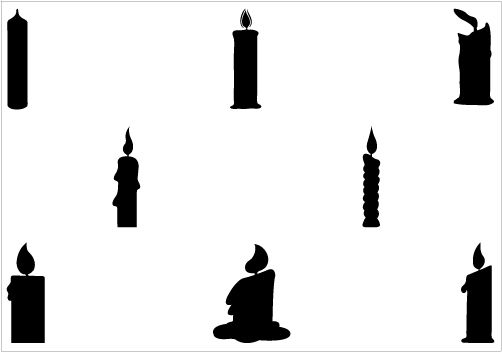 502x352 Candle Silhouette Vector