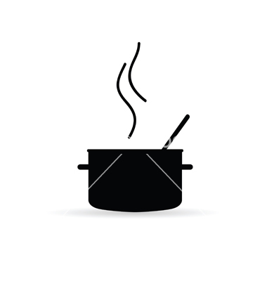 380x400 Cooking Pot Icon Silhouette Vector 3230841