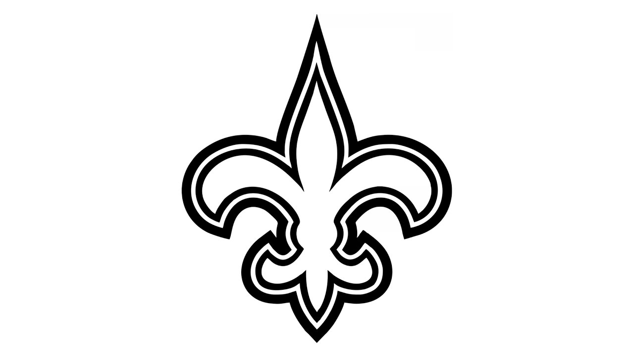 1280x720 How To Draw The New Orleans Saints Logo (Nfl)