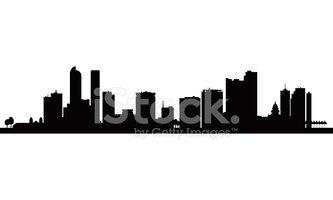 333x200 Denver City Skyline Silhouette Background Stock Vectors