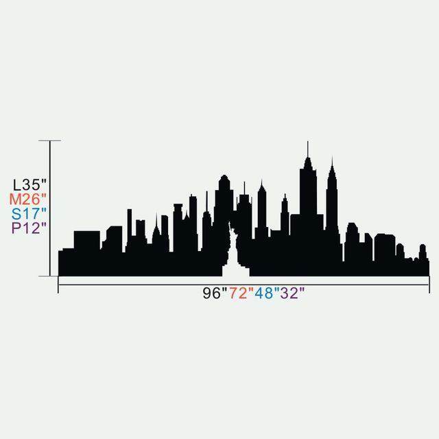 640x640 New York Skyline Art Drawing As Gift By Building City Manhattan