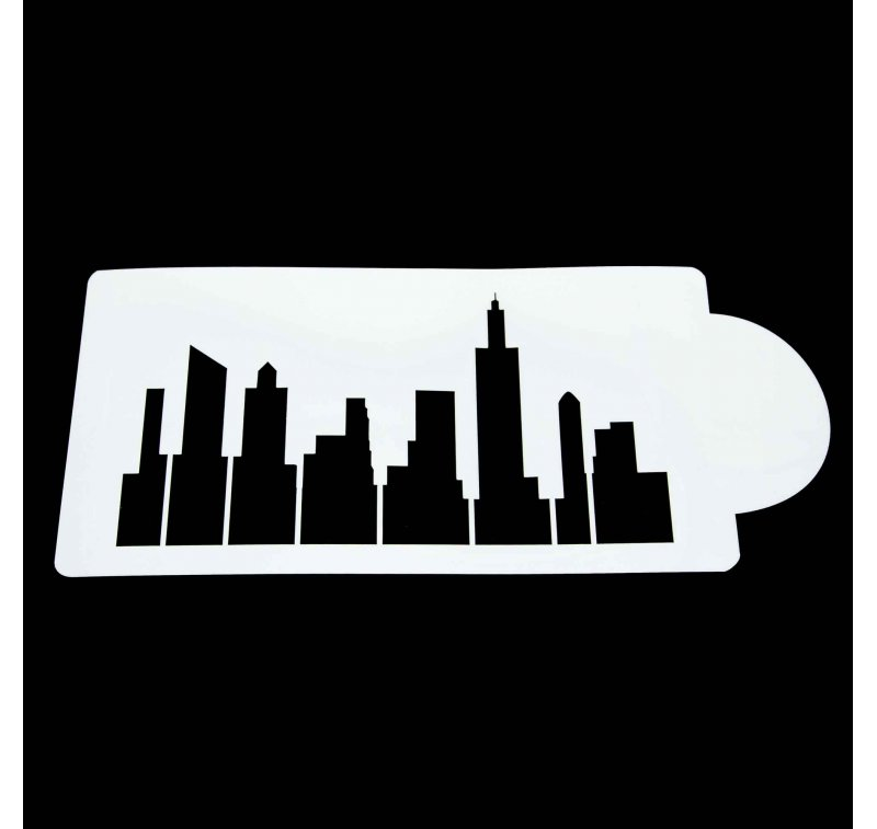 800x757 New York City Skyline Stencil Lollipop Cake Supplies