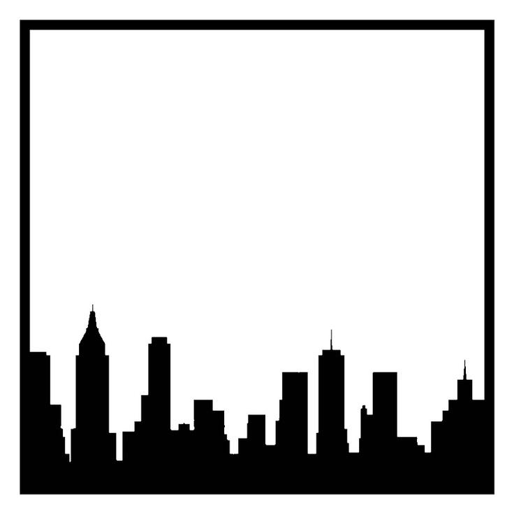 736x736 New York Skyline Drawing Outline