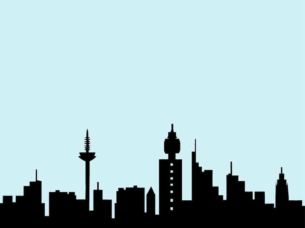1024x767 Building Skyline Clipart