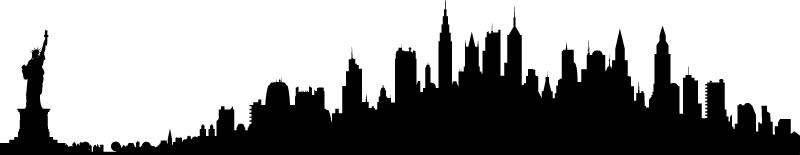 800x155 New York City Skyline Clipart