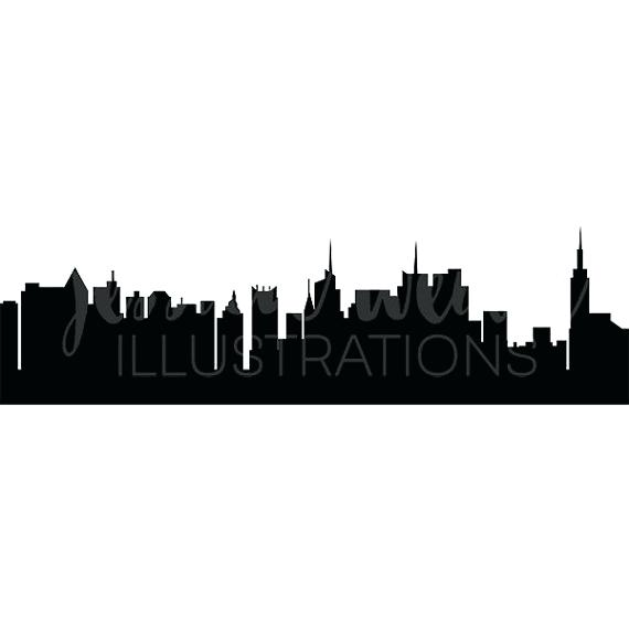 570x570 New York Skyline Silhouette Black Silhouette Of New City