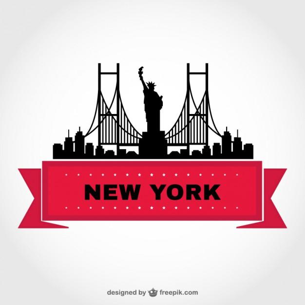 626x626 New York Skyline Vector Template Icon Template
