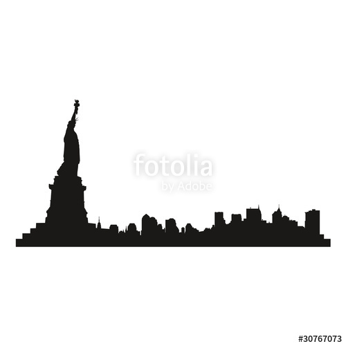 500x500 Vector Shadow Illustration City New York Stock Image And Royalty