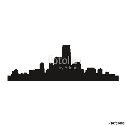 500x500 Vector Shadow Illustration City New York Town Stock Image