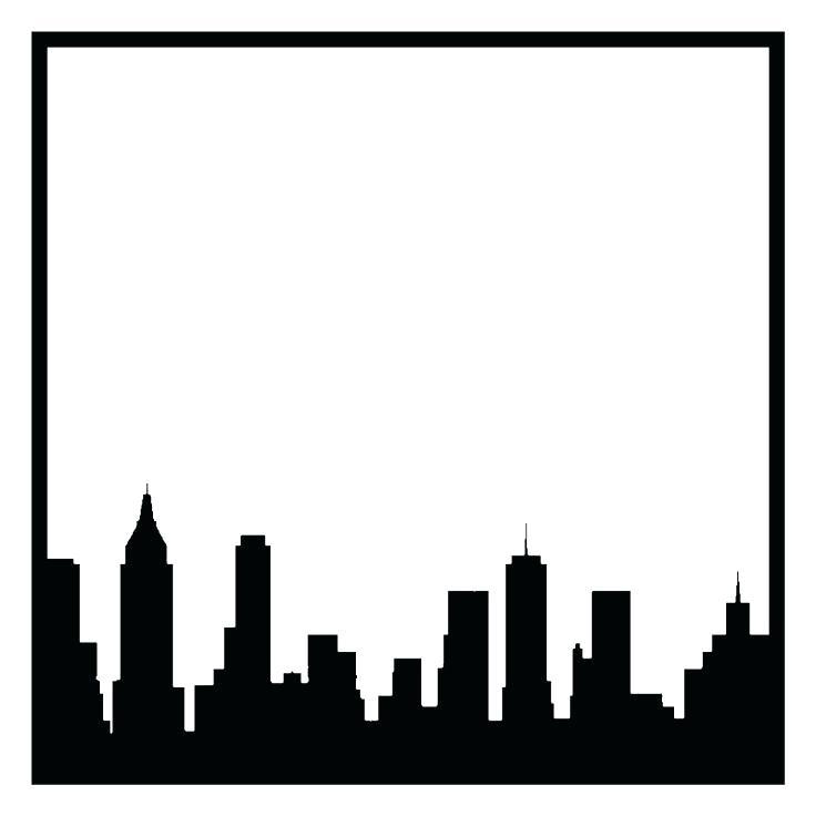 736x736 New York Skyline Outline