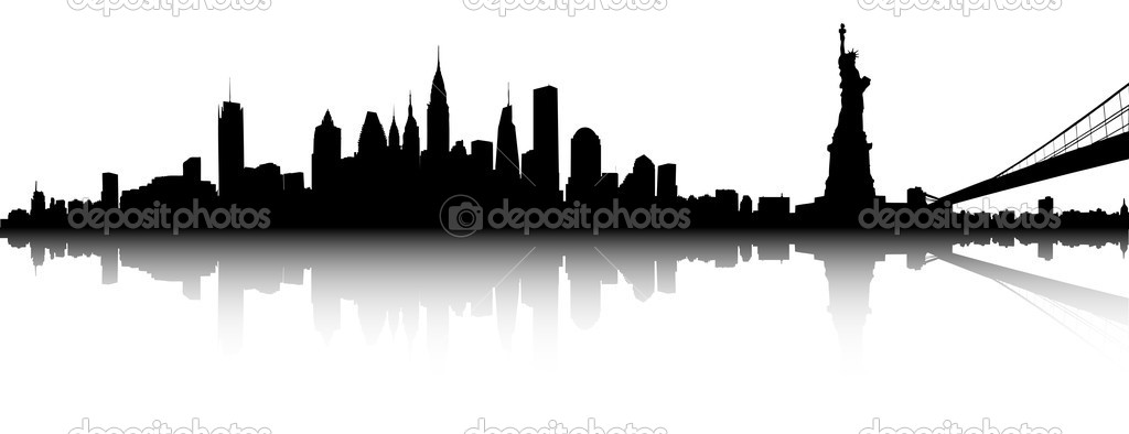 1024x394 13 New York Silhouette Vector Images