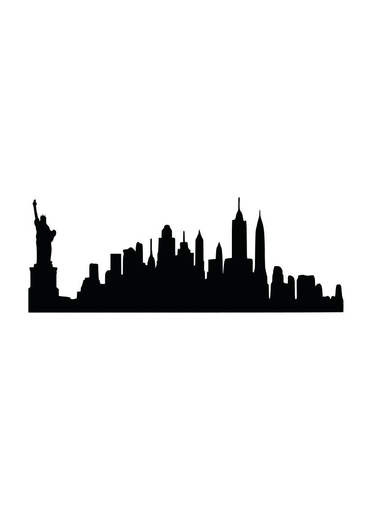 745x1053 New York Skyline Silhouette As Well As Zoom New York Skyline