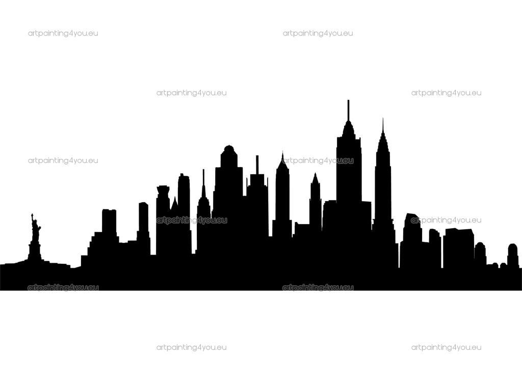 1024x768 New York Silhouette A R T Silhouette