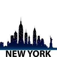 200x200 New York Skyline Silhouette Vector Image