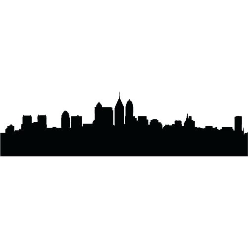 501x501 New York City Skyline Silhouette Vector Free Download