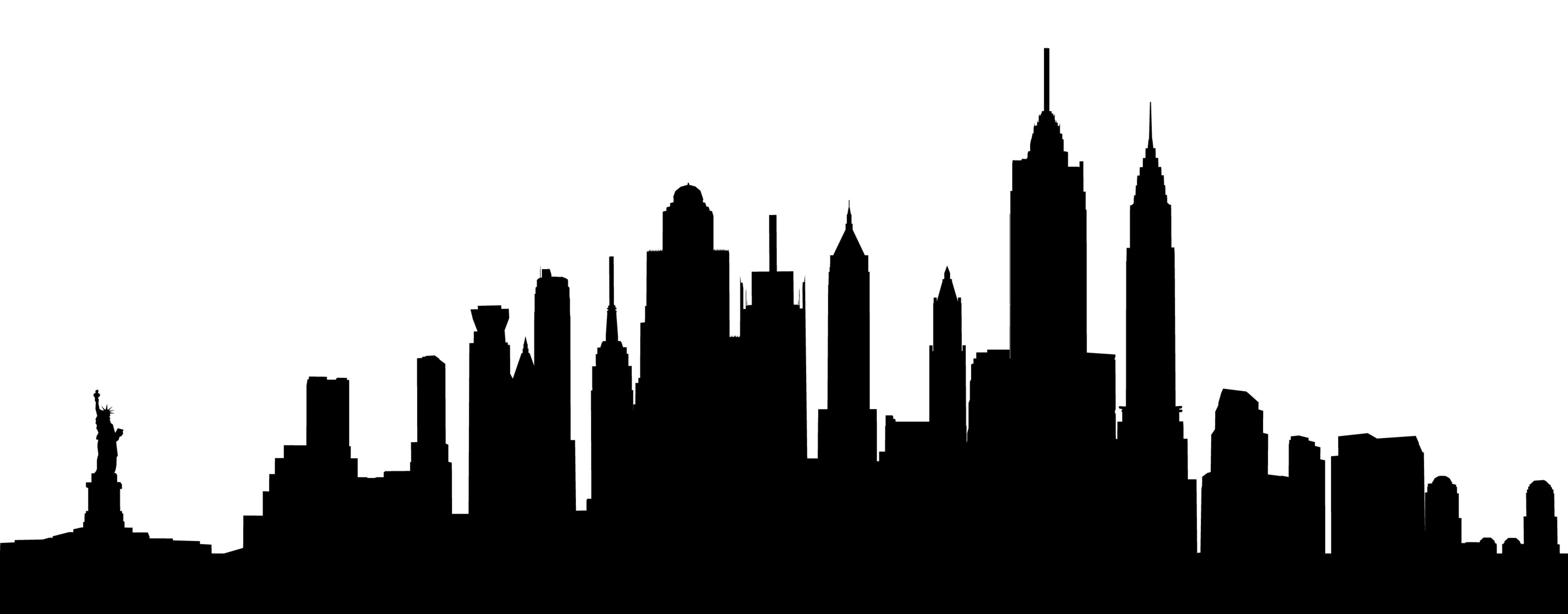 4606x1803 New York City Skyline Tattoos Arte