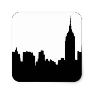 307x307 New York Skyline Stickers Amp Labels Zazzle Uk