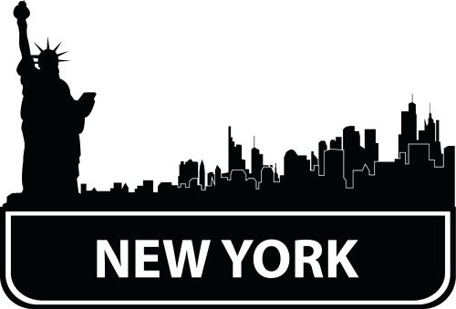 500x339 New York Skyline Outline Packed With City Skyline Graphic New