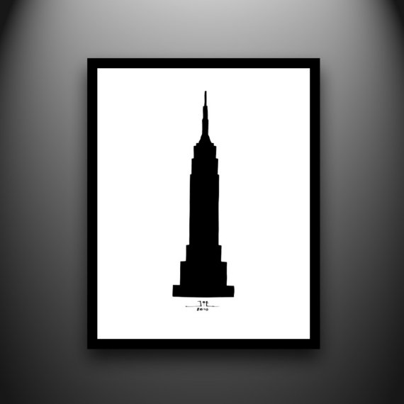 570x570 Clipart Empire State Building Silhouette
