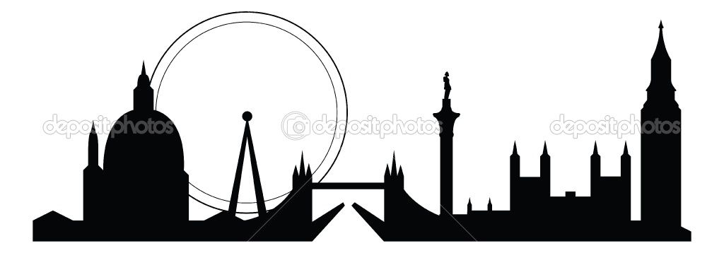 1024x358 London Skyline Silhouette Item 4 Vector Magz Free Download