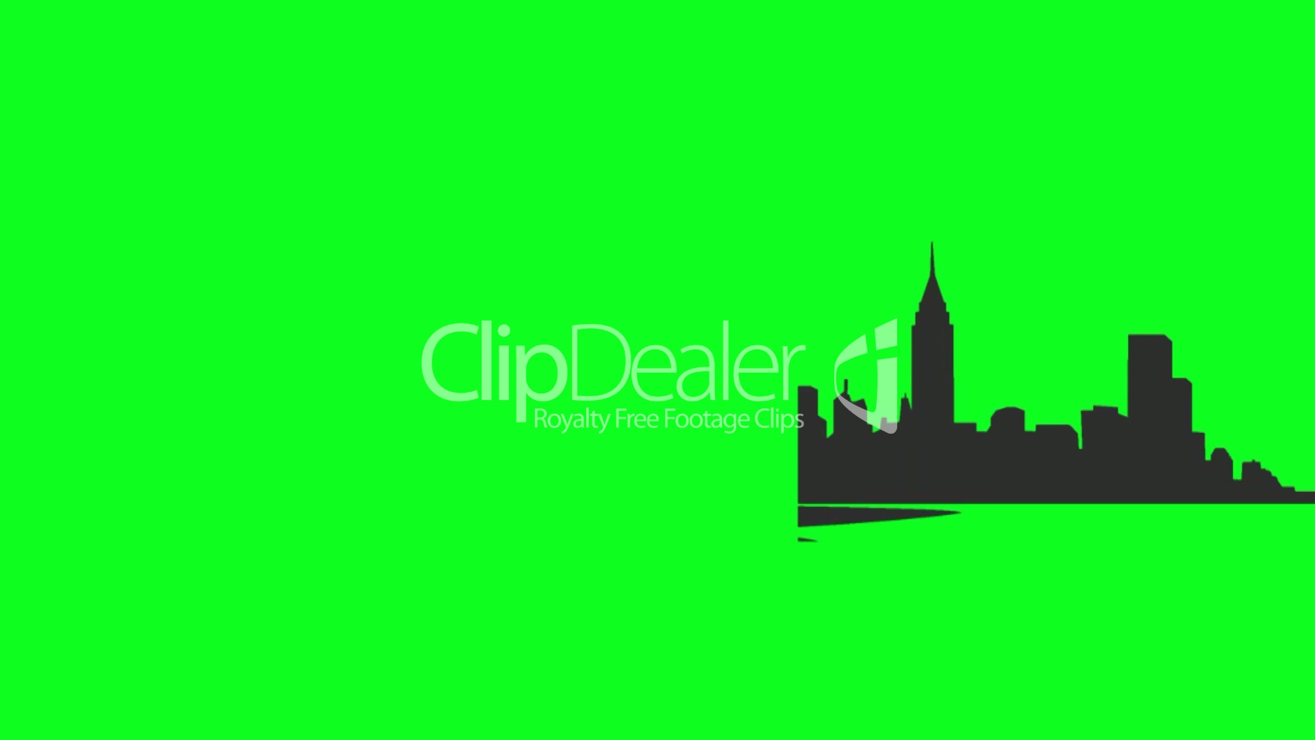 1920x1080 New York Skyline Illustration On Green Screen Royalty Free Video