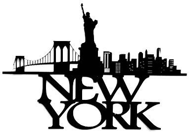 382x267 New York Scrapbooking Laser Cut Title With Skyline Scrapbook