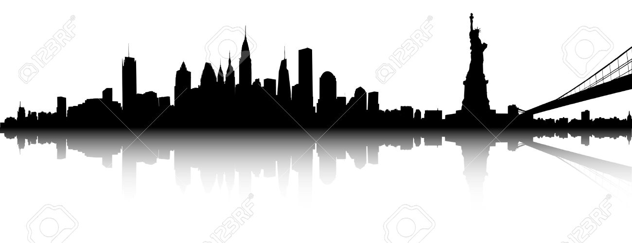 1300x500 New York Skyline Clipart New York Skyline Clipart Backgrounds