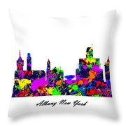 180x180 Albany New York Paint Splatter Skyline Digital Art By Gregory Murray