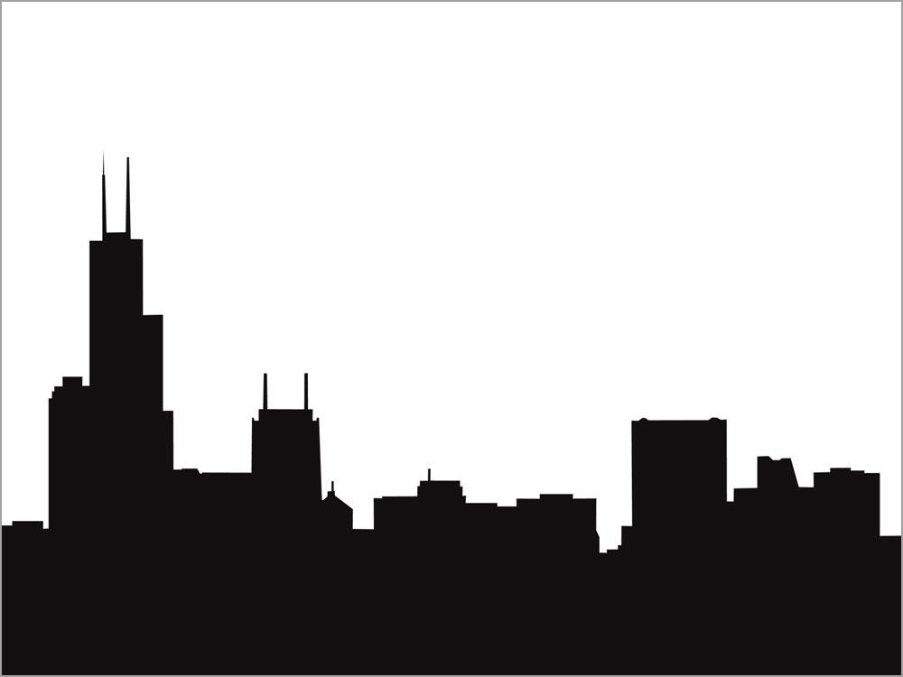 1000x750 Skyline Clipart Silhouette'13917