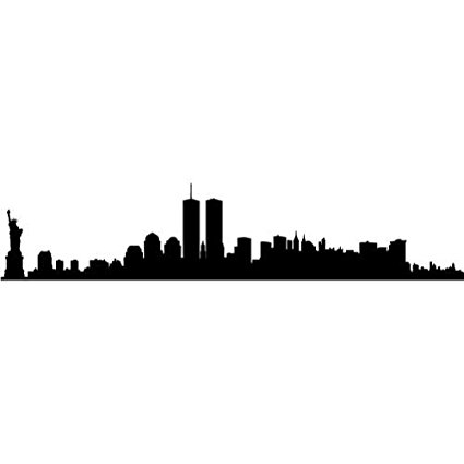 425x425 New York City Skyline Silhouette