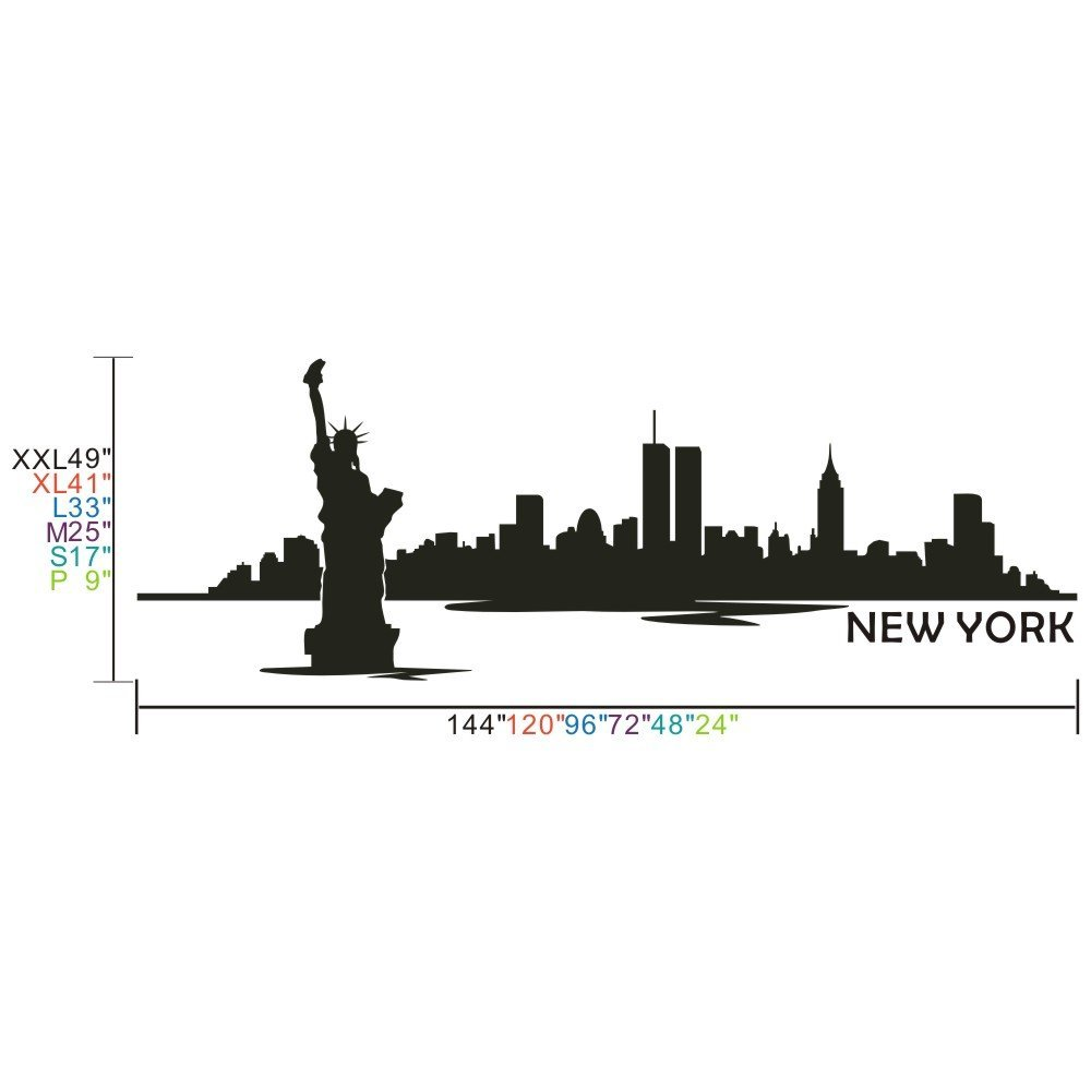 1000x1000 Vinyl New York Wall Decal New York City Wall Decor New