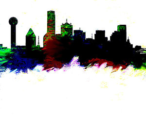 300x245 Buffalo Skyline Paintings Fine Art America