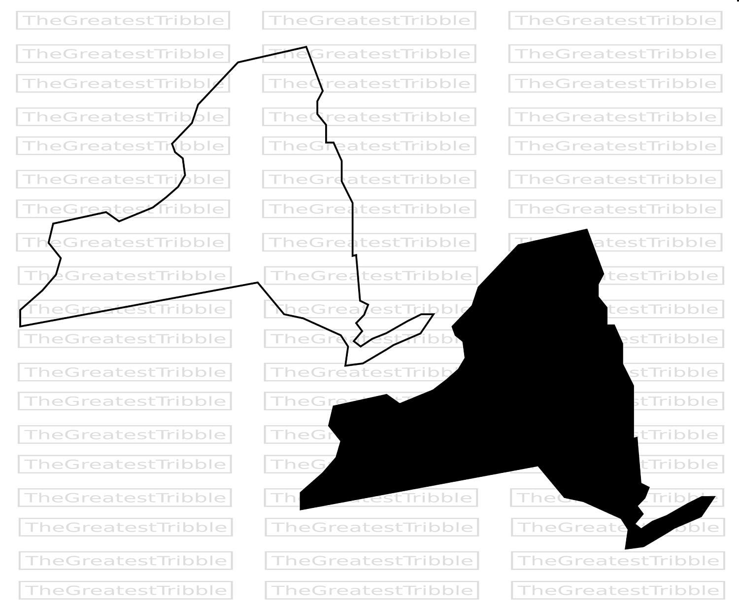 1500x1243 New York State Map Svg Png Jpg Vector Graphic Clip Art New York