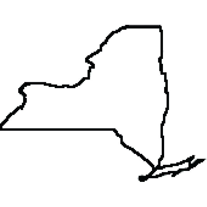 New York State Silhouette At Getdrawings Com Free For Personal Use