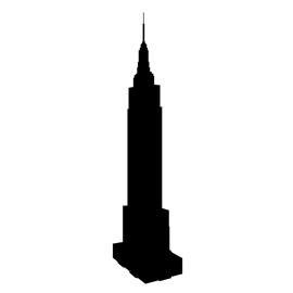 270x270 Empire State Building Silhouette Stencil Free Stencil Gallery