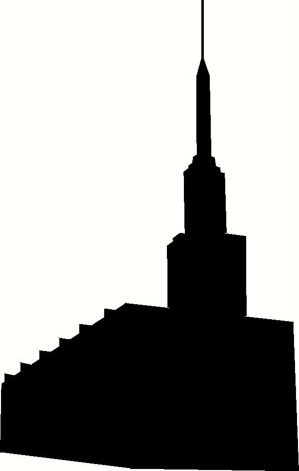 600x946 New Zealand Hamilton Temple Silhouette Wall Sticker, Vinyl Decal