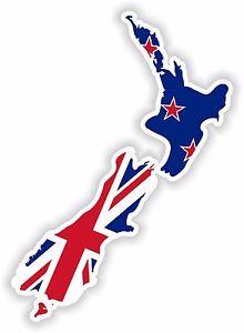220x300 1x Sticker New Zealand Silhouette Bumper Car Decal Map Flag