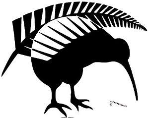 300x238 Kiwi Sticker Aotearoa New Zealand Kiwi With Fern Sticker Black Ebay