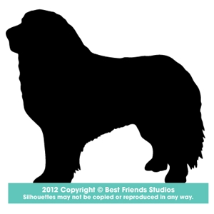 300x300 Great Pyrenees Silhouette Gifts, Stationery, Address Labels Amp Note